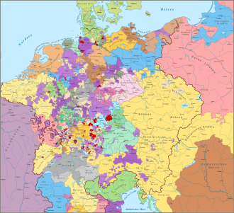 Map of the Holy Roman Empire 1618 DEsvg